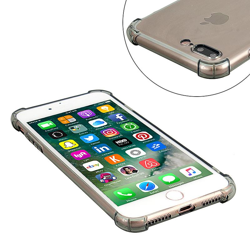 iPhone 7 Plus phone case Transparent with USB data cable