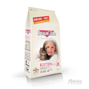 BonaCibo Premium Kitten Food - 3 Kg - Petka-Your Pet's Favourite