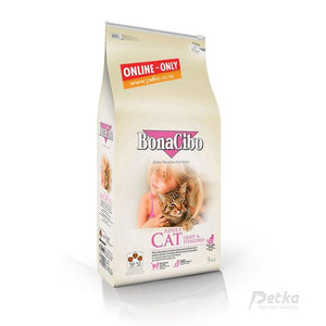 BonaCibo Premium Light Cat Food - 5 Kg - Petka-Your Pet's Favourite