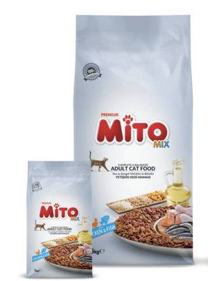 Mito Adult Cat Mix Chicken & Fish - 1kg