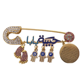 Broche main de fatma <br>or écrit rempli