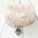 Mala Main de Fatma en Quartz Rose