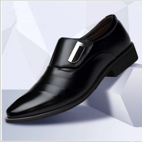 2019 New Men's Fashion British Style Pointed Toe Wedding Business Leather Formal Dress Shoes Summer Flats Shoes Oxfords Men u90