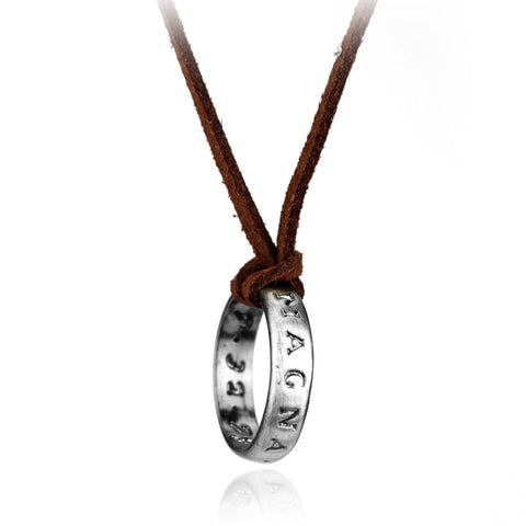 Leather necklace (you can wear as a ring too)