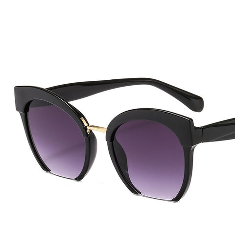 Trendy Colored Half Frame Cat Eye Sunglasses (VERSACE)