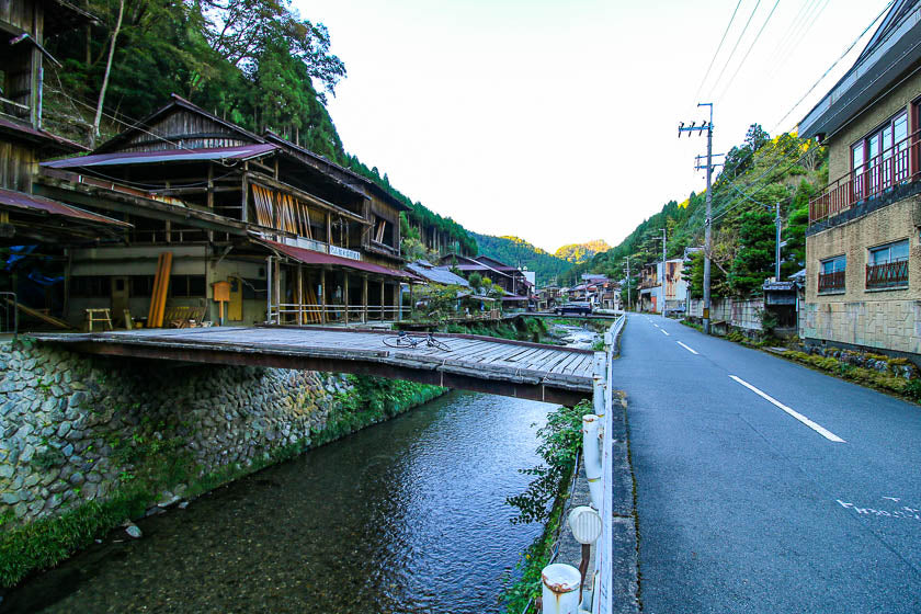 The hidden gem found in Northwest Kyoto, in the mountains. The town is called Nakagawa and it's an example of authentic Japan.