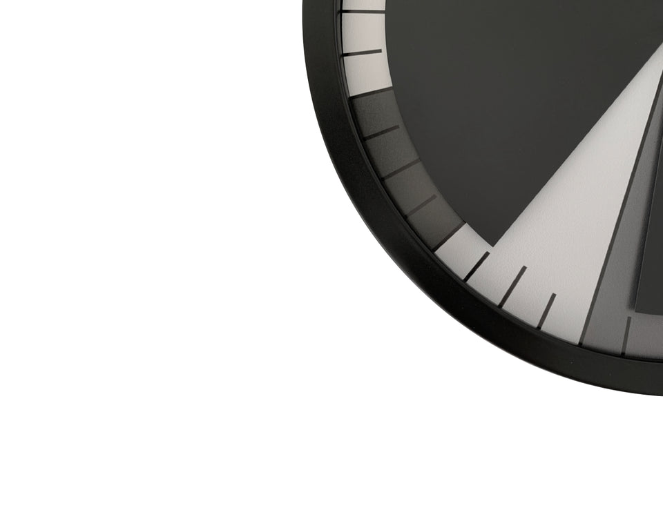 TIAN Wall Clock Black/White