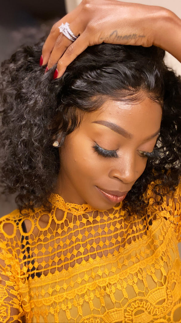 natural human hair lace front wig