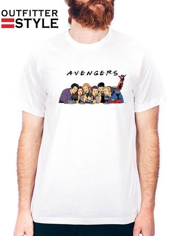 Friends Marvel Avengers Endgame Characters Shirt