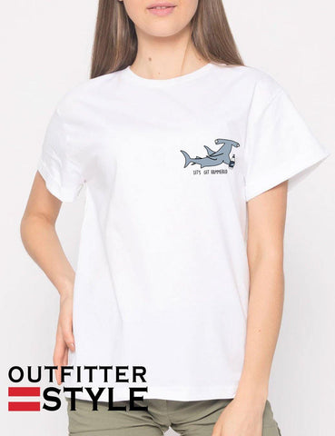 Let's Get Hammered Shark T-shirt Woman