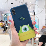 Cartoon Toy Story Sulley Mike Phone Cases For iPhone 6 S 6S 7 8 Plus X XS MAX XR 11 Pro MAX