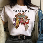 Angel Funny T Shirt Women 90s Shirt