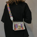 Transparent bag graffiti Messenger bag transparent jelly bag