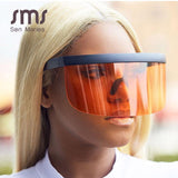 Oversized One-piece Goggle Sunglasses
