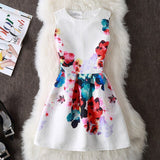 Summer Dress Sexy Casual Floral Dress Vintage A-line Sleveeless Party Dresses