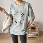 Summer Small Fresh Embroidery T-shirt