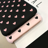 Love Heart Couples Phone Case For iPhone XS Max X XR Case Hard Phone Cover iPhone 7 8 X 6 6S Plus 5s