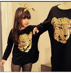 Girls Clothing Sets Toddler Leopard Pattern Girls Clothes Baby Kids T Shirt+Pants Kids Clothes