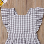 Toddler Cute Kids Girl Clothes Newest Fashion Plaid Baby Romper Girl Jumpsuit Playsuit Holiday