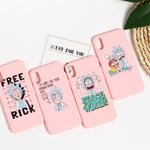 Rick And Morty Comic Meme For iPhone 11 8 8Plus X 7 7Plus XR Xs Max Soft Silicone Matte Case