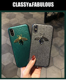 Diamond Bee Glitter for iphone 7 8 6S plus X XR XS 11 Pro Max hard cover for samsung S8 S9 S10 Note 10 9