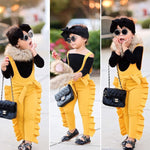 Jumpsuits Toddler Kid Girl Ruffle Strap Bib Pants Romper Jumpsuit Playsuit Clothes 0-5T