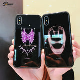 Marvel Luminous Tempered Glass Case For iPhone 11 Pro MAX XS MAX XR 8 7 6 6s Plus X Samsung S8 S9 S10 Plus Note8 9 10 Pro