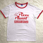 Funny Pizza Planet Women's T-shirt Humor
