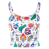 Casual Tank Tops Crop Vest Animal Beach Shirt Blouse Sleeveless Plain Vintage