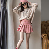 Plaid Skirt Women Zipper High Waist School Girl Pleated Sexy Mini Skirt