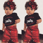 1-5Y Fashion Toddler Kids Baby Girls Sets Letter Print Tops T-shirt Mini Skirt 2PCS Outfits Clothes - Outfitter Style