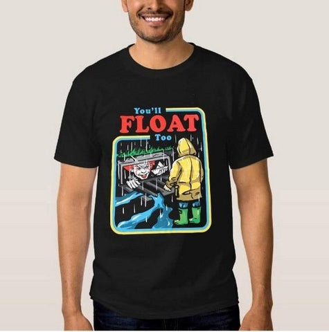 Float to Your Boat It The Movie Youll Float Too Georgie Pennywise The Clown Paper Boat T-Shirt