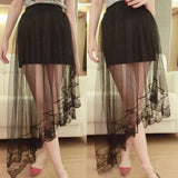 WOMEN GYPSY LONG JERSEY Skirt LADIES GYPSY TULLE LACE Skirt