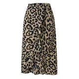 high waist skirts womens midi leopard skirt punk streetwear
