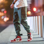 Cargo Pants Mens Streetwear Joogers Pants Black Sweatpant Hip hop Pockets Trousers