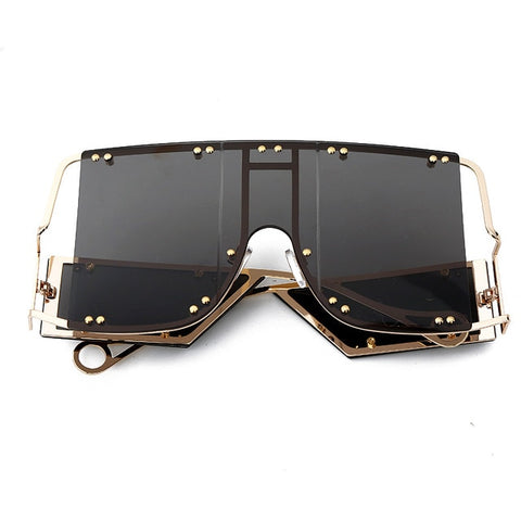 Oversized Sunglasses Big Square Frame Top Sun Glasses
