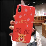 Santa Claus Snowman Cute 3D Christmas Case For iPhone XS XR XS Max X 8 7 6 6S Plus Soft