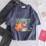Fashion Star Embroidery T Shirt Women Funny Short Sleeve T-Shirts