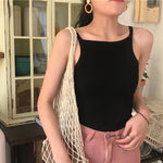 Women Tank Top Fashion Sexy Tank Top Vest Off Shoulder Halter