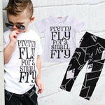 2 Pieces Toddler Kids Boys Clothes Set T-shirt Tops+Pants Summer Casual Outfits - Outfitter Style