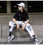 Hip hop Pants Men Loose Joggers Print Streetwear Harem Pants