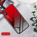 Gradient Tempered Glass Case For iPhone 7 8 Plus 6 6s iPhone X XS XR 11 Pro Max