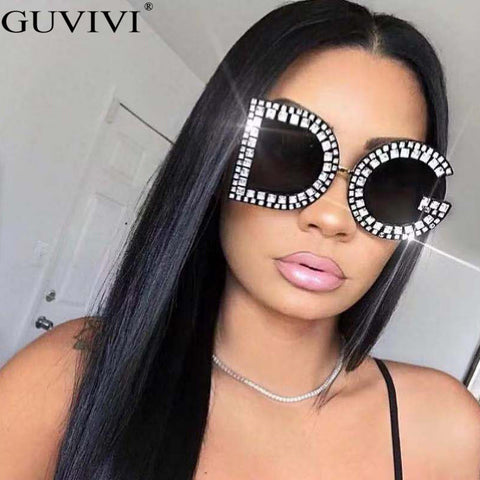 Sunglasses Women Trendy Brand Rhinestone Eyeglasses Diamond