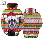 Christmas hoodies Men Funny Anime Xmas sweatshirt Red 3D shirt Punk Rock Halloween Party