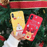 3D Cartoon TPU phone Case for iphone 6 6s 7 8 Plus X Santa Claus Christmas Soft Silicone Cover for iphone XR XS Max