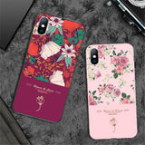 Elegant Rose Flower Phone Cases For iPhone 11Pro Max X XR Xs Max 11 6 6s 7 8 Plus