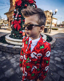 3-8Years Christmas Clothing Boys Clothes Set Santa Claus Print Shirt Boys Pants Outfits Children Suits Toddler Set