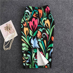 Women Summer Print Flowers Pencil Skirt Casual Skirts