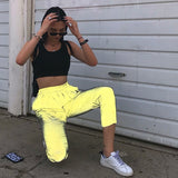 Flash Reflective Jogger Pants streetwear trousers