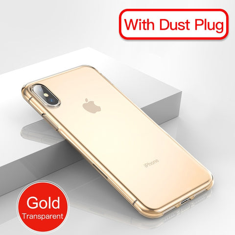 Case For iPhone 11 Pro Max Ultra Thin Soft TPU Transparent Clear Silicone Back Cover For iPhone Xs Max XR